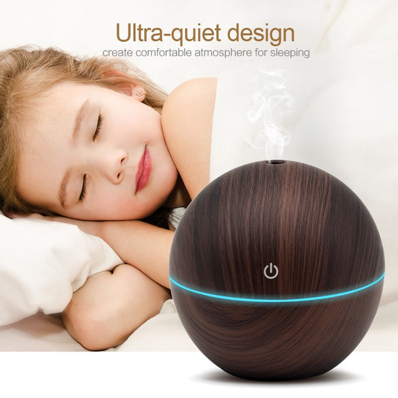 BAYB Aroma Essential Oil Diffuser. Great Ultrasonic Air humidifier. Aromatherapy Essential Oil. Equipped with 7 color light