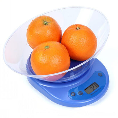 Kitchen Digital LCD Electronic Scale Food Balance Measuring Weight Tool with Removable Bowl