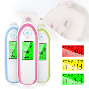 Faro Baby Thermometer - Fast Fever Detector - Non-contact Ear & Forehead Body Temperature For  Babies & Adults