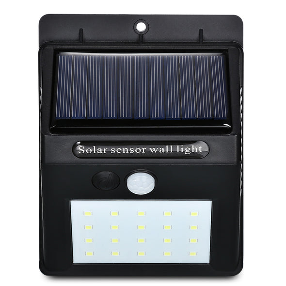 PRIMO Power Solar lamp. LED Solar Power . Outdoor Waterproof. Energy Saving. Ideal for your Backyard- Home -Garden . Equipped with PIR Motion Sensor. Wall Light 20 LED. Great Security Lamp.