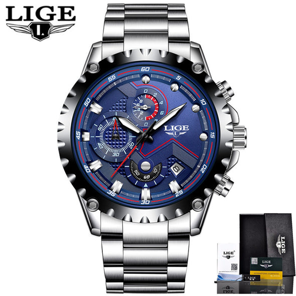ILO Sport Quartz Watch . Men's Fashion Quartz Watch .Top Brand Luxury Watch for Business. Steel & Waterproof Watch