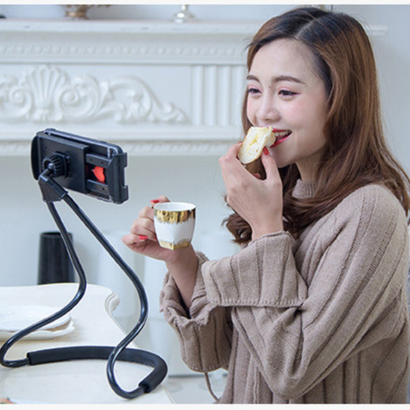 Azy-360.  Phone Holder. Aroung The Neck. Stand For iPhone. 360 Degree Rotation. Great Mobile Phone Mount Bracket. Cell Phone Holder Stand