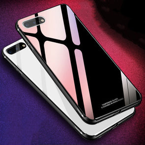 M5 Tempered Glass Case for iPhone XS Max 8 Plus 7 X Luxury Hybrid Back Cover Shockproof Sleeve Hard Housing for iPhone8 XR