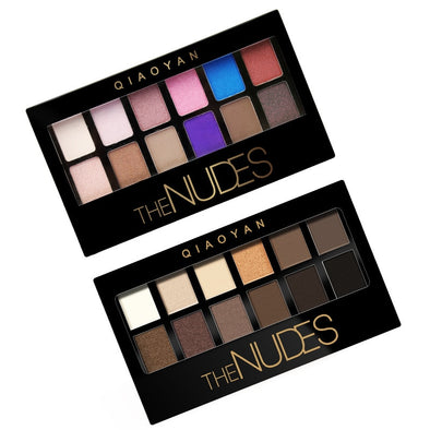 Ustar  Eyeshadow Palette .  Glitter Eyeshadow Palette Nudes Neutral Eye Shadow Palettes Makeup Set. 3 Styles 1.2 Colors Matte Pigment.