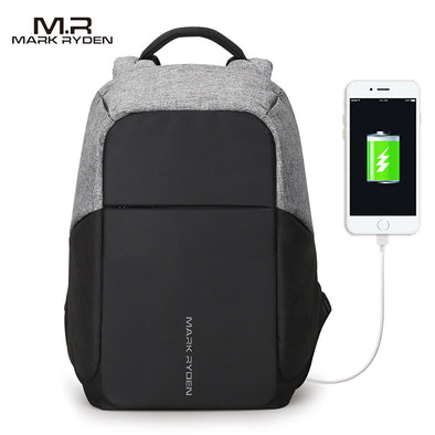 MR Backpack. Amazing  Multifunction Backpack. For Business Office -School - Travel - Hiking. WaterProof & Anti-thief. Lightweight & Durable Bag. USB Connection to charge your Smartphone. Great Backpack For 15-inch Laptops.