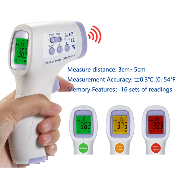 Non-contact Infrared Digital Thermometer. Best of Babies & Adults.