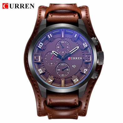 Ogio Watch. Top Brand Luxury Leather Strap Watch. Waterproof Sport Men.  Quartz  Military Watch.