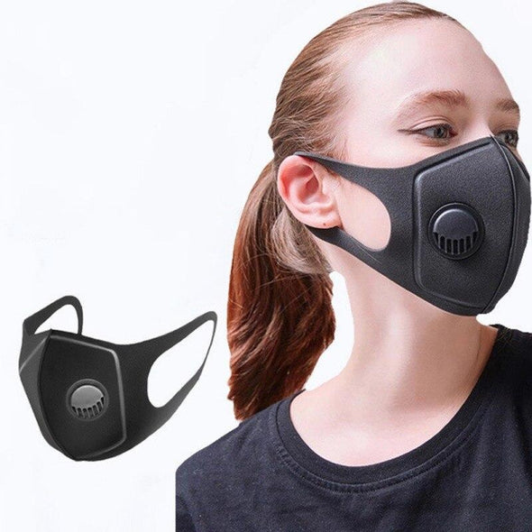 UniS1- Mask. Dustproof & Pollution Face Mask. Equipped with Breath Wide Straps. Washable & Reusable Mask. Also Equipped with A Great Muffle Respirator. Unisex.