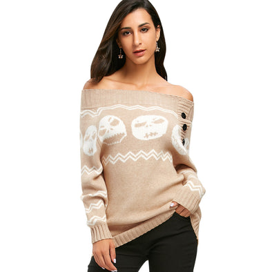 Skull Tunic Sweater
