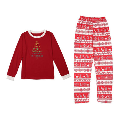 O2-Xmas Pajamas. Your Best Christmas Pajamas with Moose Fairy Christmas. Family Pajamas . Gift Idea With Adult-Kids Set.