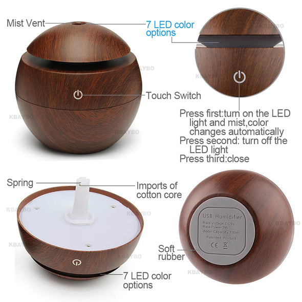 Aroma Essential Oil Diffuser for Home &  Office