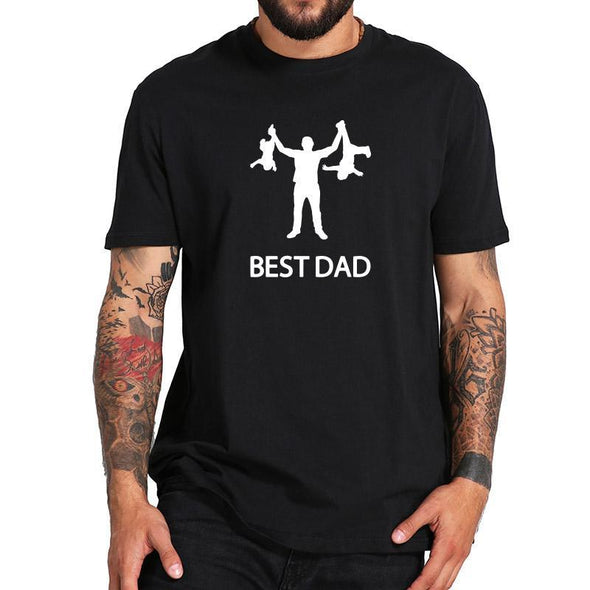Best Dad Tshirt Funny Design Father Day T shirt 100% Cotton Fashion Gift T-shirt EU Size - Viva Shirt
