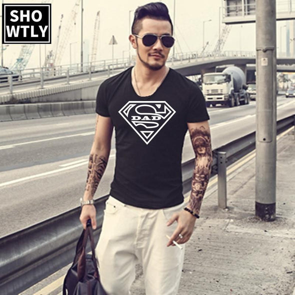 Showtly  Super Dad T Shirt  Party Tees Gift For Daddy Casual Cotton Super Soft Short Sleeve - Viva Shirt