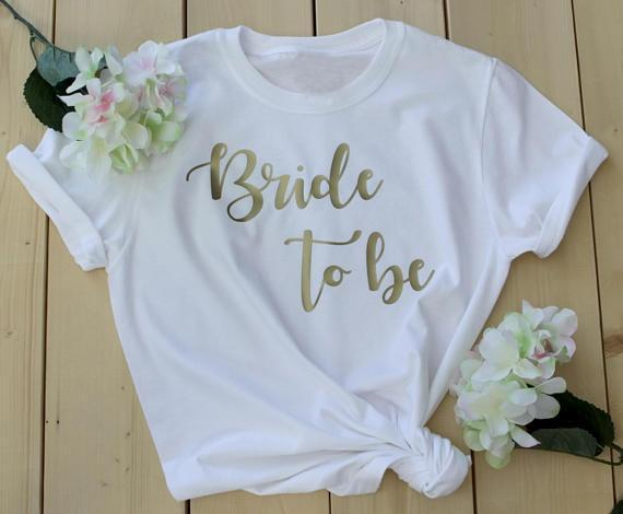 Bride to be bride squad t-shirt romantic gift for her women fashion cotton beautiful tees Bridesmaid Shirts Bachelorette Party - Viva Shirt