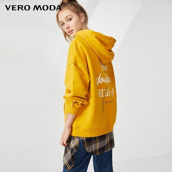 Vero Moda Women's hooded padded plush velvet leisure  hoodie sweatshirt | 318333504