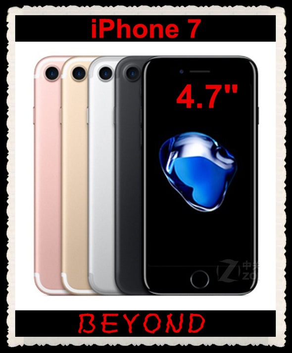 "Apple iPhone 7 Original Factory Unlocked Mobile Phone 4G LTE 4.7"" Quad Core A10 12MP RAM 2GB ROM 32GB/128GB/256GB Cell phone"