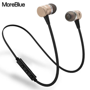 MoreBlue M98 Wireless Bluetooth Earphones Metal Magnetic Sport Running Headphones Stereo Super Bass Headsets Earbuds With Mic