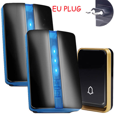 SMATRUL self powered Waterproof Wireless DoorBell no battery EU US AU plug Smart Door Bell chime 1 button 1 Receiver LED light