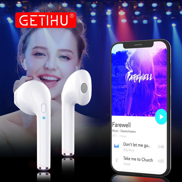 GETIHU Bluetooth Earphone Headphones Phone Sport Headset in Ear Buds Wireless Mini Earphones Earpiece For iPhone Samsung stereo