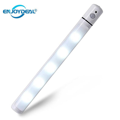 Magnetic Corridor Night Light Smart IR Motion Sensor 5 LED Night Lamp Swivel LED Tube Lamp for Hallway Wardrobe Cabinet hot