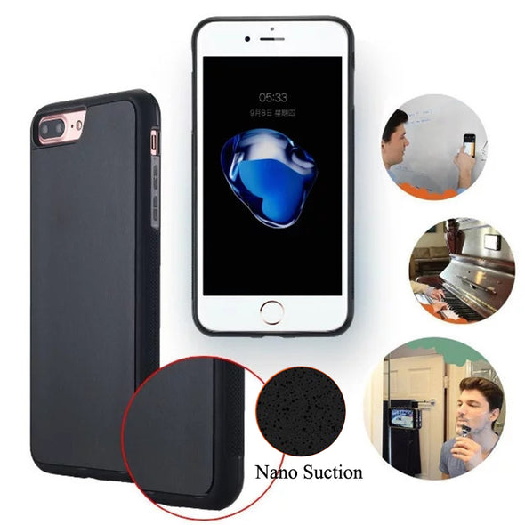 Luxury Nano Suction Magical Case For iPhone 8 8Plus X Anti Gravity Case for iPhone 7 7Plus 6 6s Plus 5 Suction Magic Stick Case
