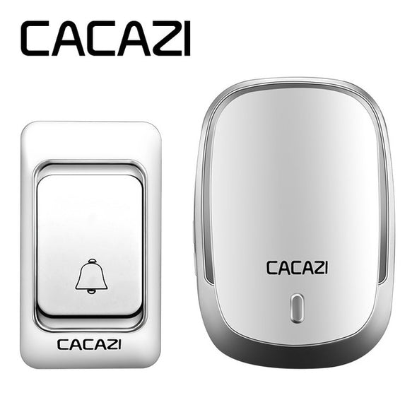 CACAZI Newest Smart home DoorBell Waterproof 200m work range Wireless Door bell AC 110-220V 36 rings 4 volume door chime