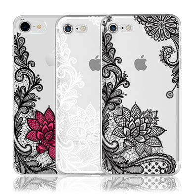 Cellphone Case Lace - For iPhone X 8 7 6 6S Plus 5 5S SE 5C 4 4S , Note 3 4 Pro Prime 4X Mi A1 5X 5A