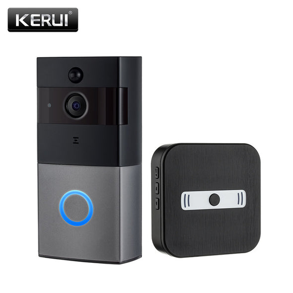 KERUI Real-time Video Doorbell Wireless 720P Security Camera Two-Way Talk and Night Version Intercom Doorbell within TF card