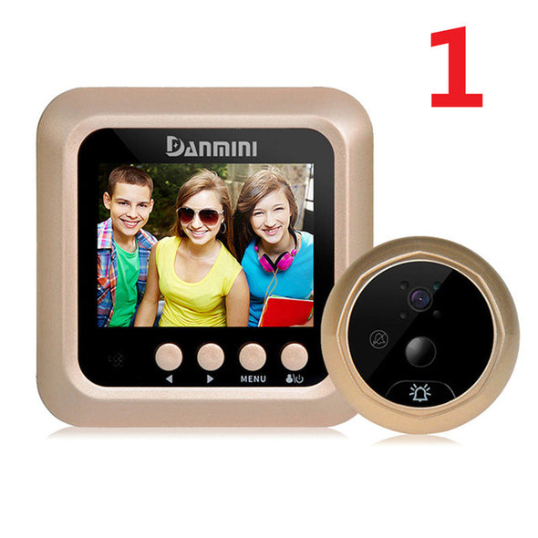 INI Wireless Door Phone Video Doorbell Intercom Digital Peephole Viewer Door Eye Doorbell Home Security Camera Night Vision