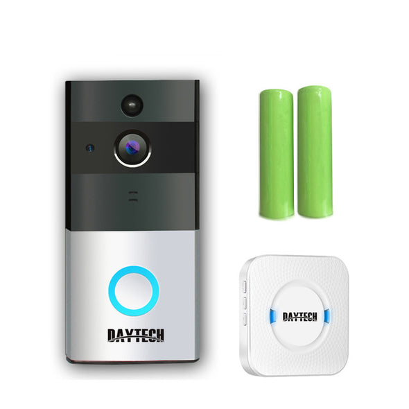 DAYTECH Wireless Doorbell Ring Chime Door Bell Video Camera WiFi IP 720P Waterproof IR Night Vision Two Way Audio