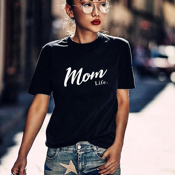 Mom Life Shirt Mothers Day Gift Womens T Shirt Mom Life Tee Graphic Tees summer casual Female Tops drop ship - Viva Shirt