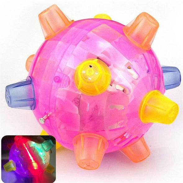 LED Light Jumping Activation Ball Light Music Flashing Bouncing Toy