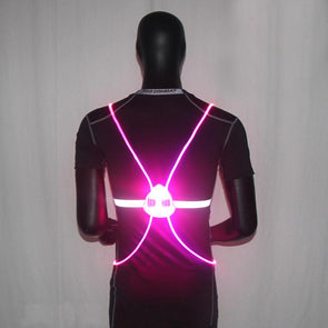 V2020 Night Reflective Safety Vest. Excellent Equipment for Jogging, Running Cycling. Walking. All Night. Outdoor sports Flashing. Must-Have Vest for Motorcycle.