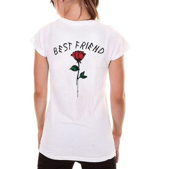 Fashion Best Friend Shirts Women Short Sleeve t shirt BFF Top Sisters Gifts for Friends Tees for Her - Viva Shirt