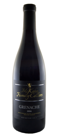 2016 Grenache - McKahn Family Cellars - 89 pts WE, 96pts O.C. Wine competition