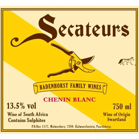 2017 Secateurs Chenin Blanc, Swartland South Africa