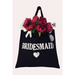 cotton canvas tote bag for bridesmaids