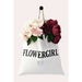 wedding day tote bag with title of participant in bridal party