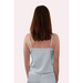 Rear view of pale blue coloured camisole with adjustable straps