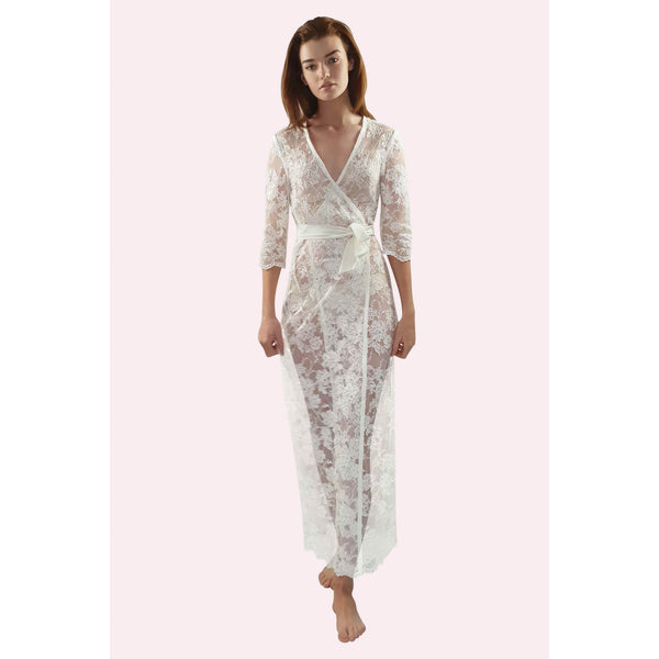 ELENA (L) Lace Bridal Robe