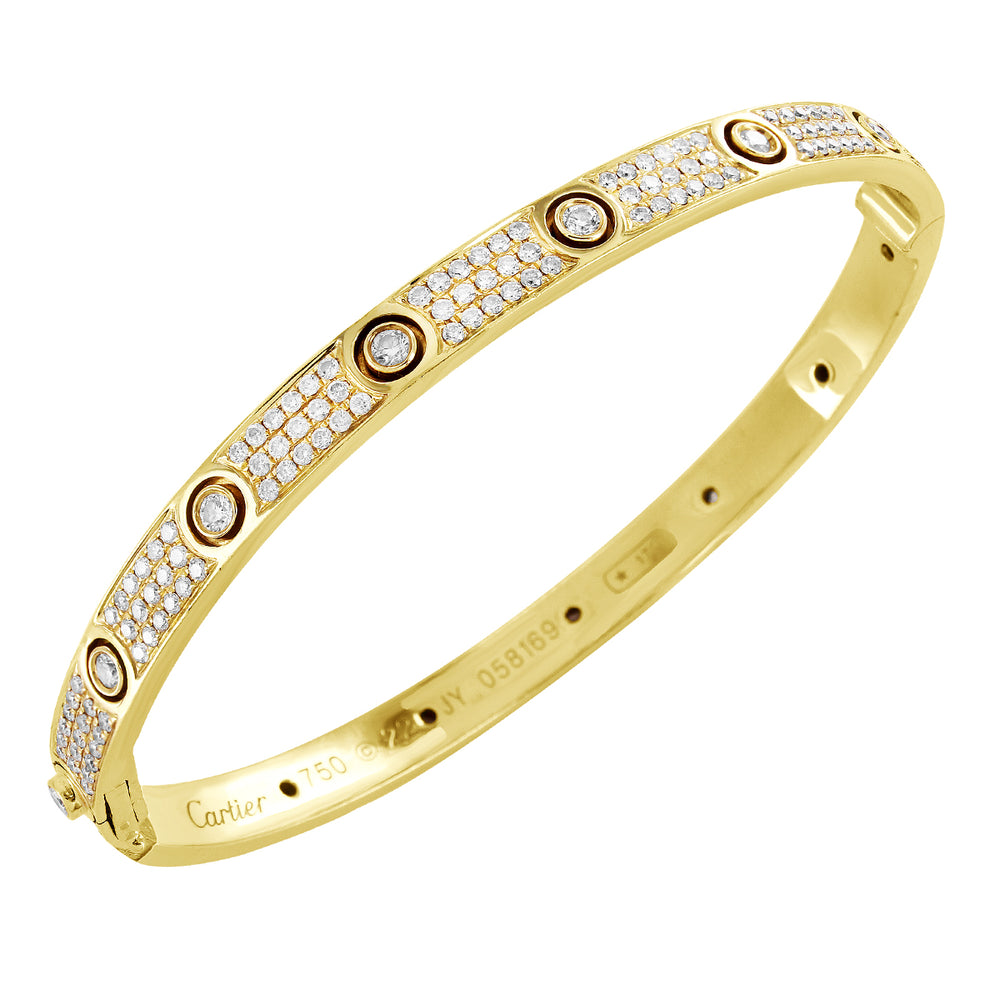 18K Yellow Gold Inspired Diamond Love Bracelet