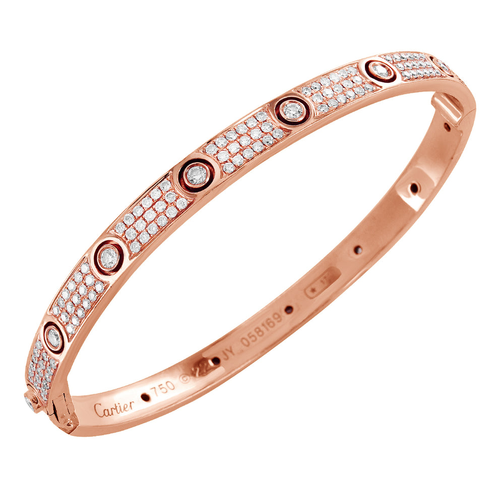 18K Rose Gold Inspired Diamond Love Bracelet