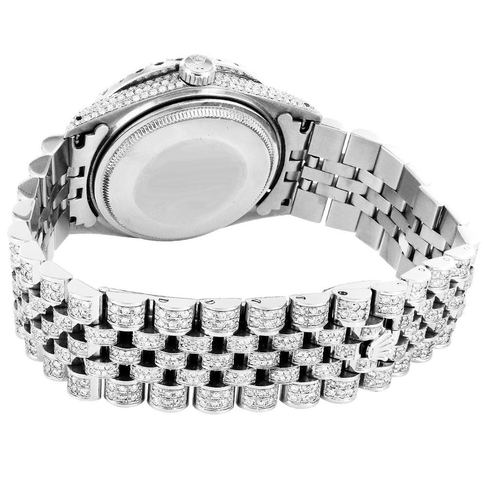 Rolex 36MM Datejust Stainless Steel Hidden Clasp Jubilee Band With Diamonds