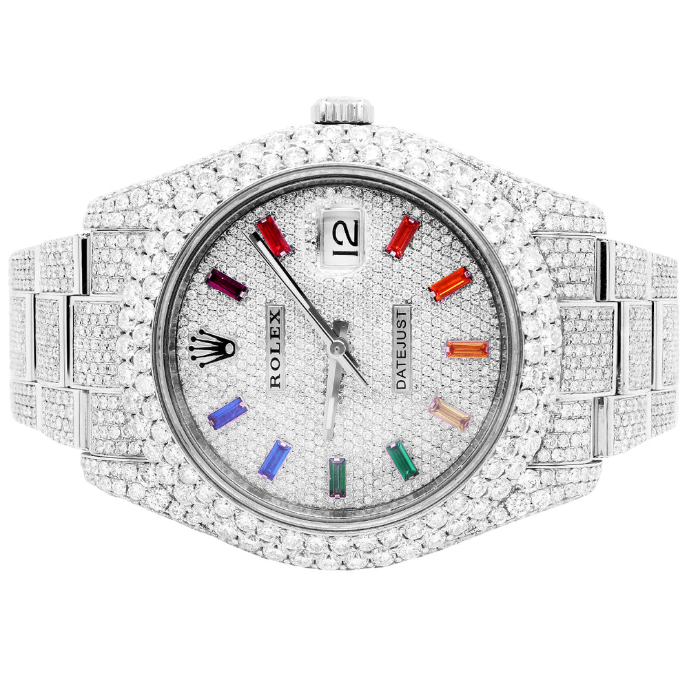 Rolex Datejust 41MM Rainbow Dial Oyster Band With Diamonds