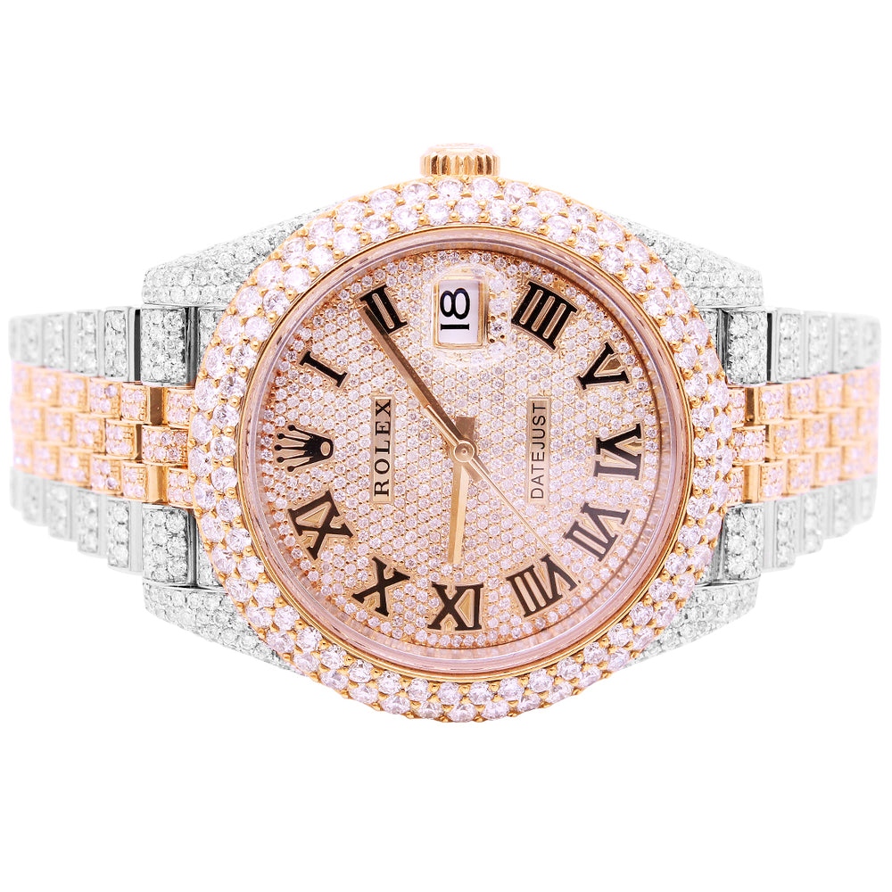 Rolex Datejust 41MM Two Tone Rose Gold Jubilee Band With Diamonds