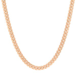 6 MM Solid Gold Miami Cuban Link Chain Yellow White Rose Gold
