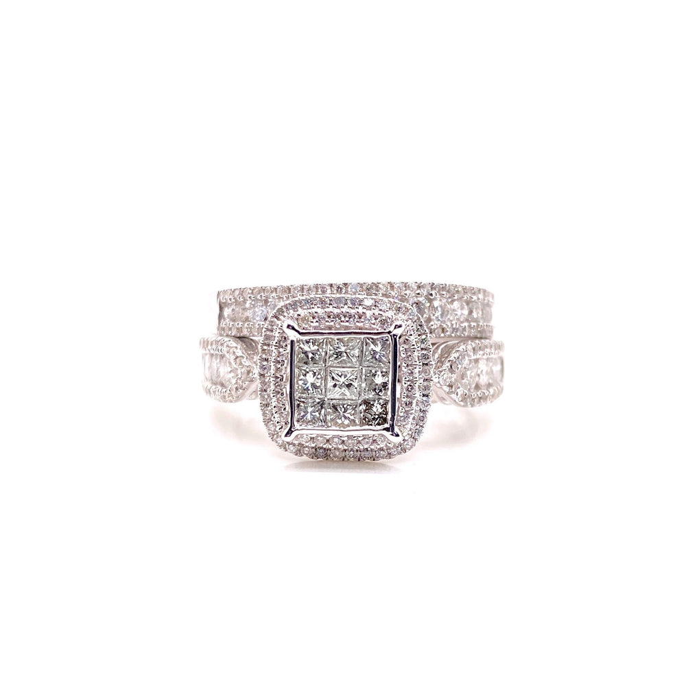 Princess Cut DIamond Ring With Matching Band