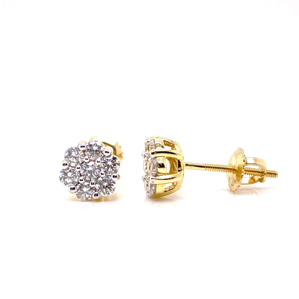Cluster Flower Set Diamond Earrings