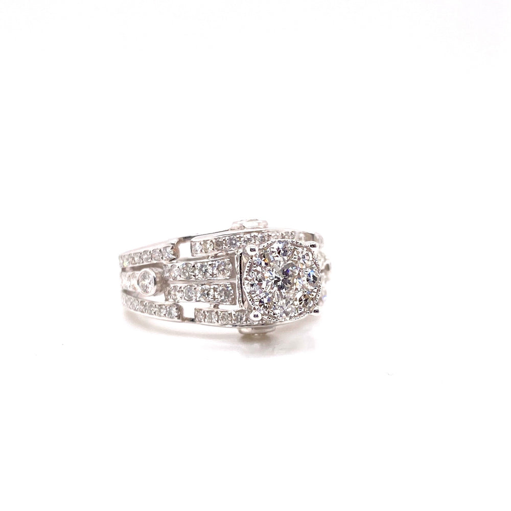 Cluster Diamond Ring With Designer Band