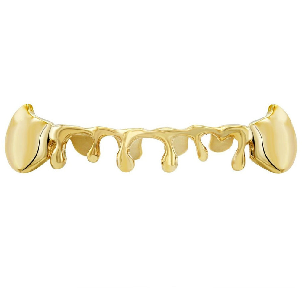 Custom Vampire Fangs Drip Grillz Yellow White Rose Gold